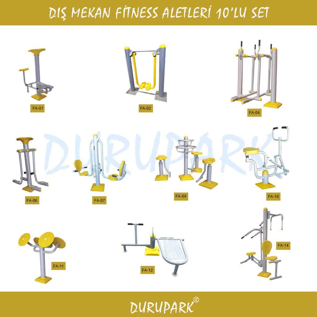 Dış Mekan Fitness Aletleri 10'lu Set