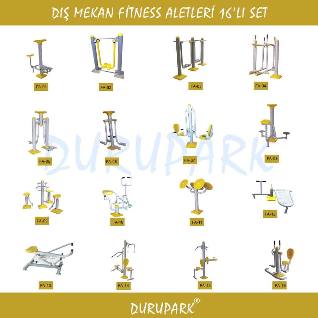 Dış Mekan Fitness Aletleri 16'lı Set