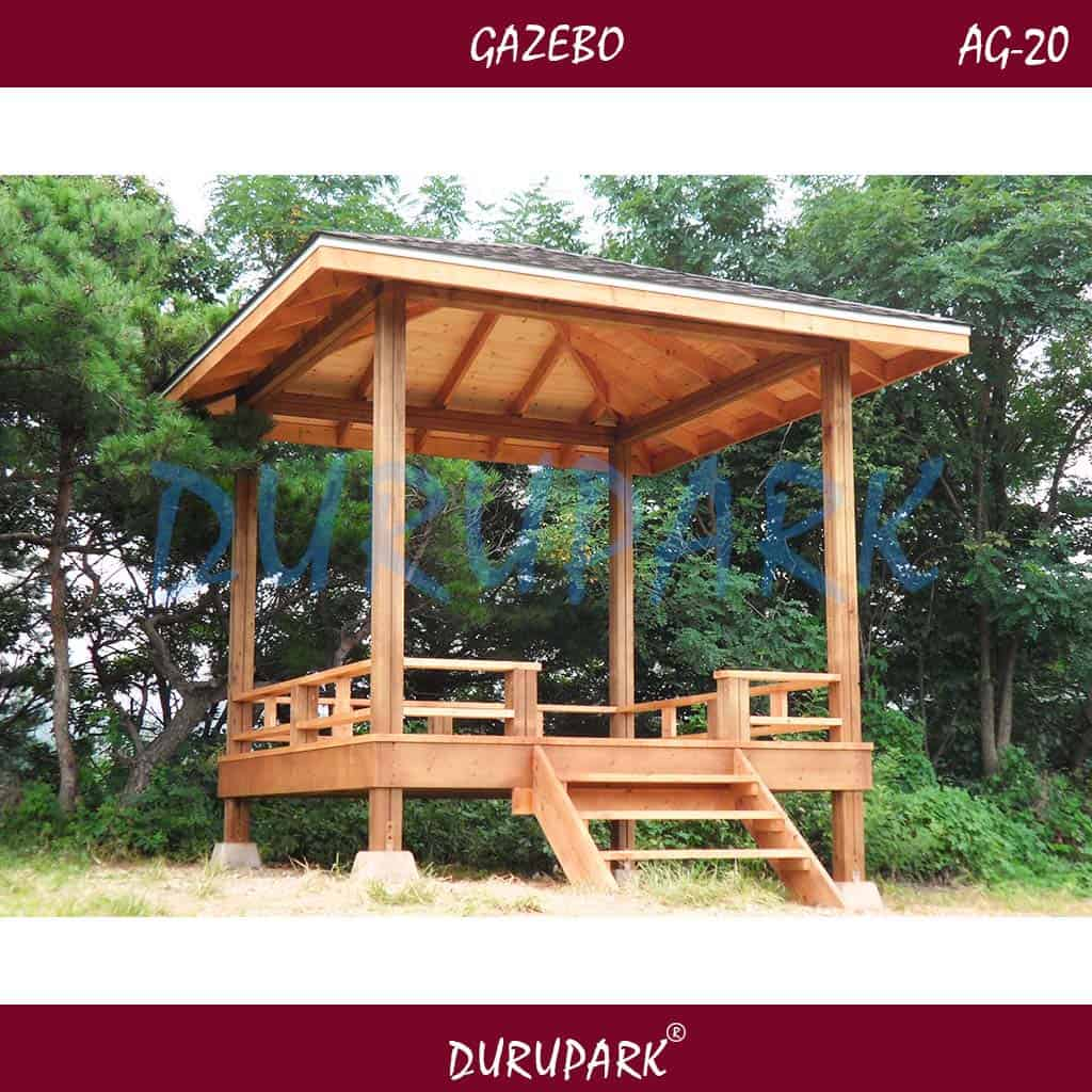AG20 - Yerden Yüksek 3mx3m Gazebo