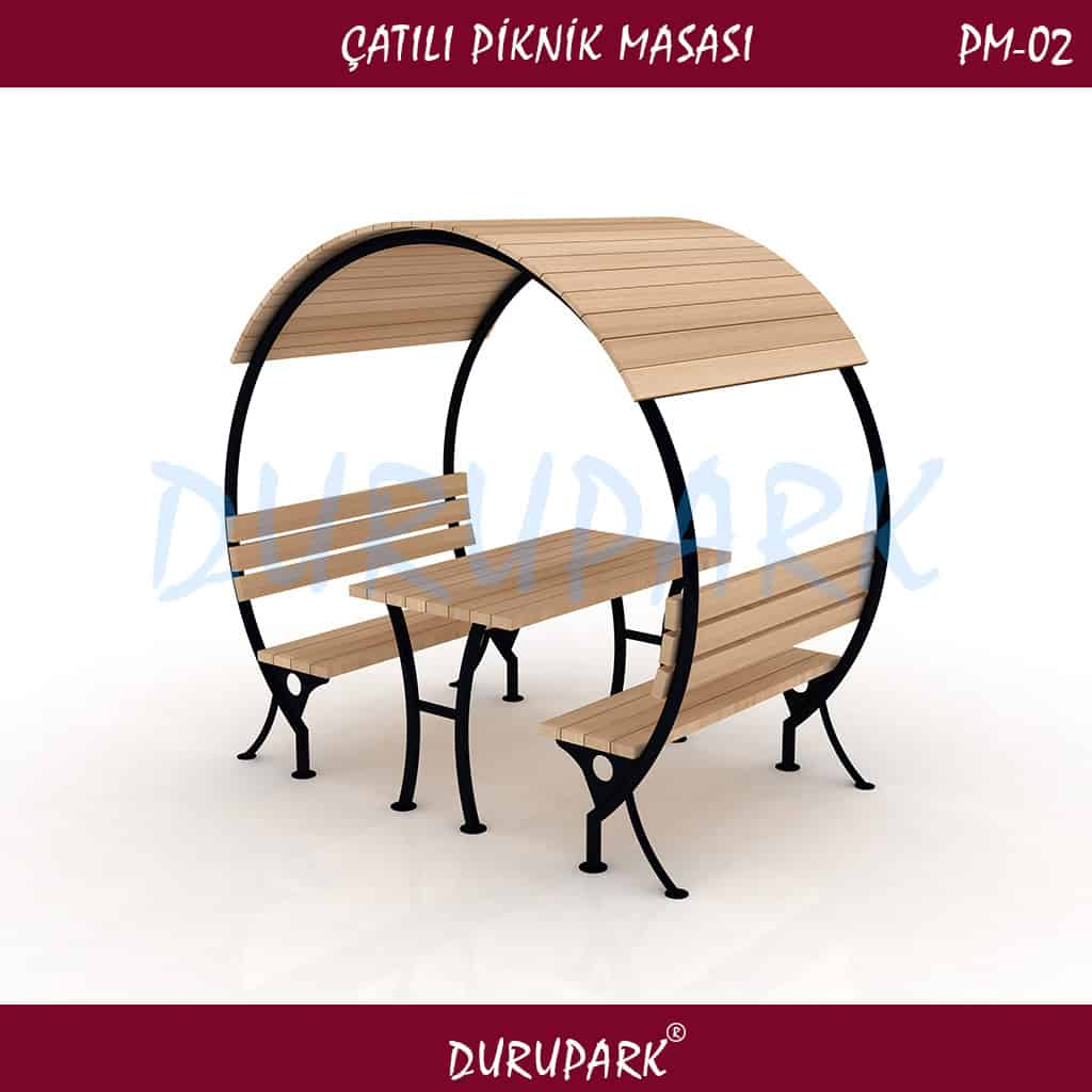 PM02 - Çatılı Piknik Masası