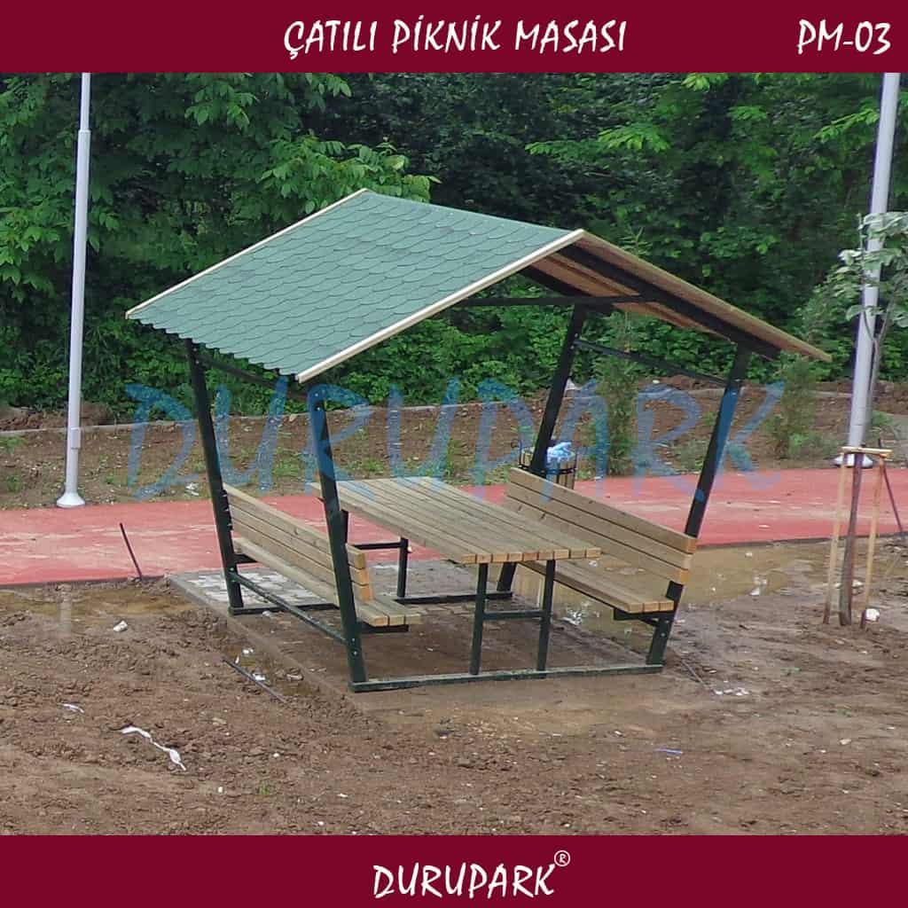 PM03 - Çatılı Piknik Masası