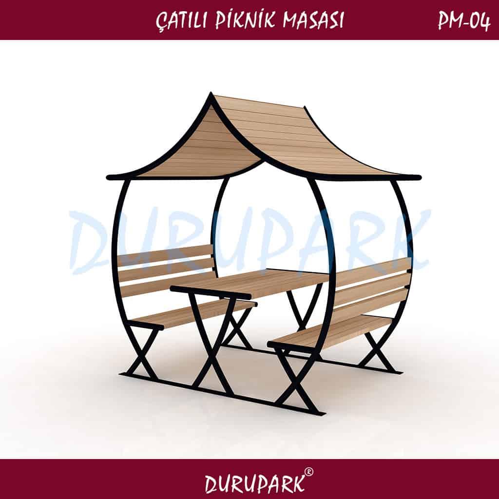 PM04 - Çatılı Piknik Masası