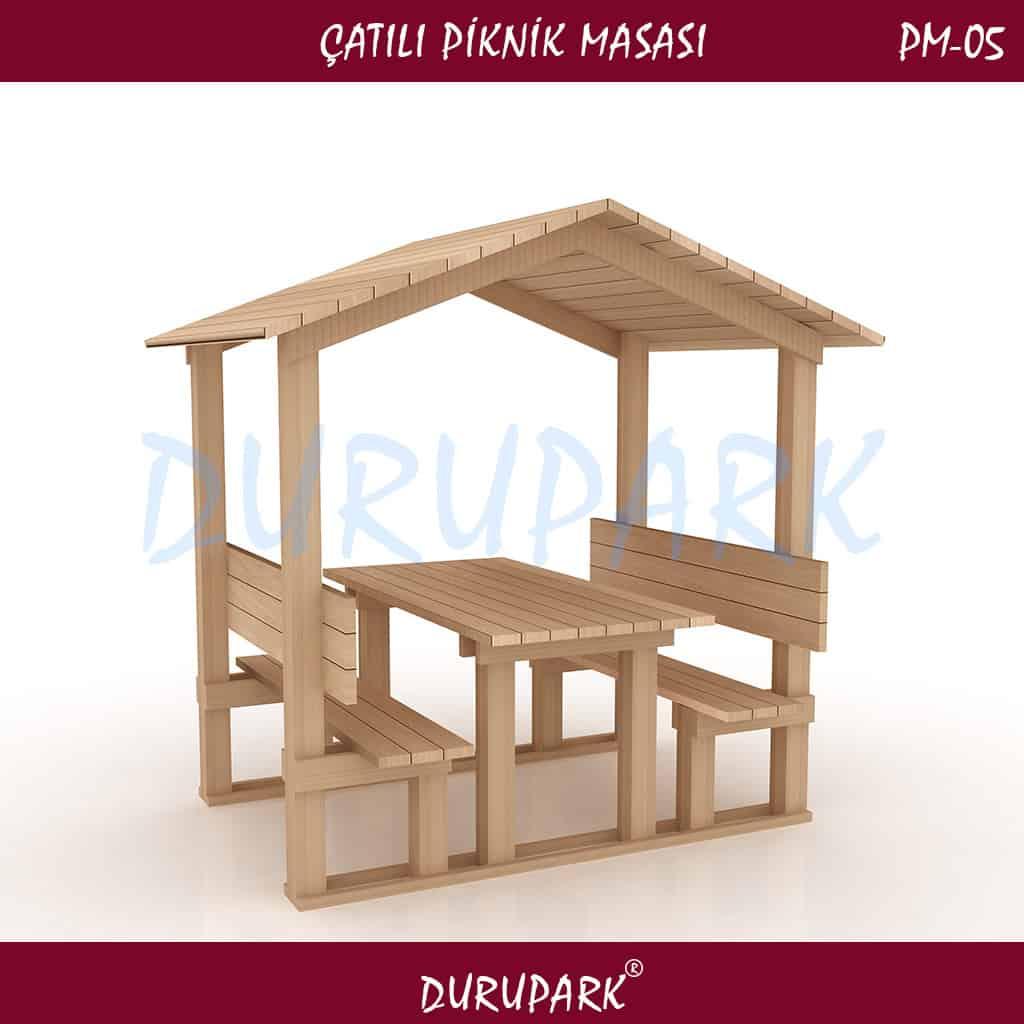 PM05 - Çatılı Piknik Masası