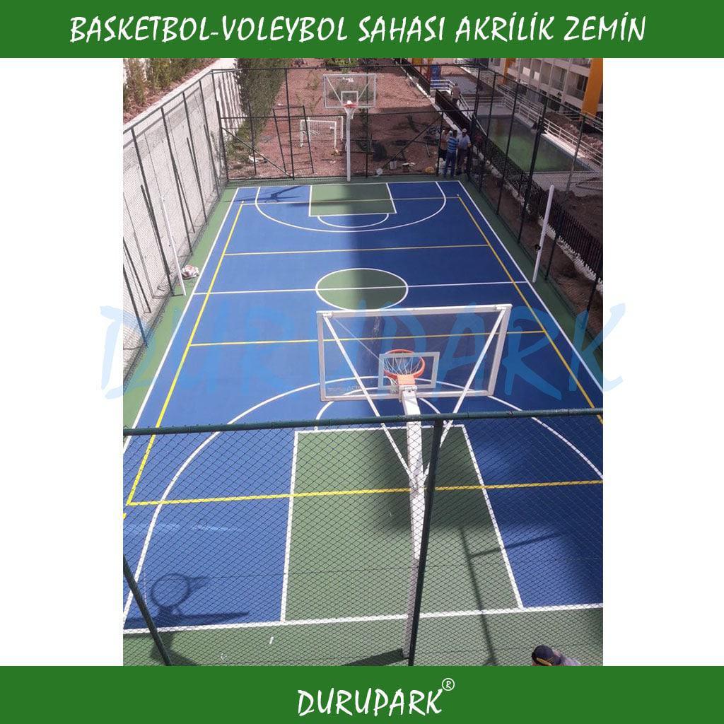 Basketbol Voleybol Sahası Akrilik Zemin