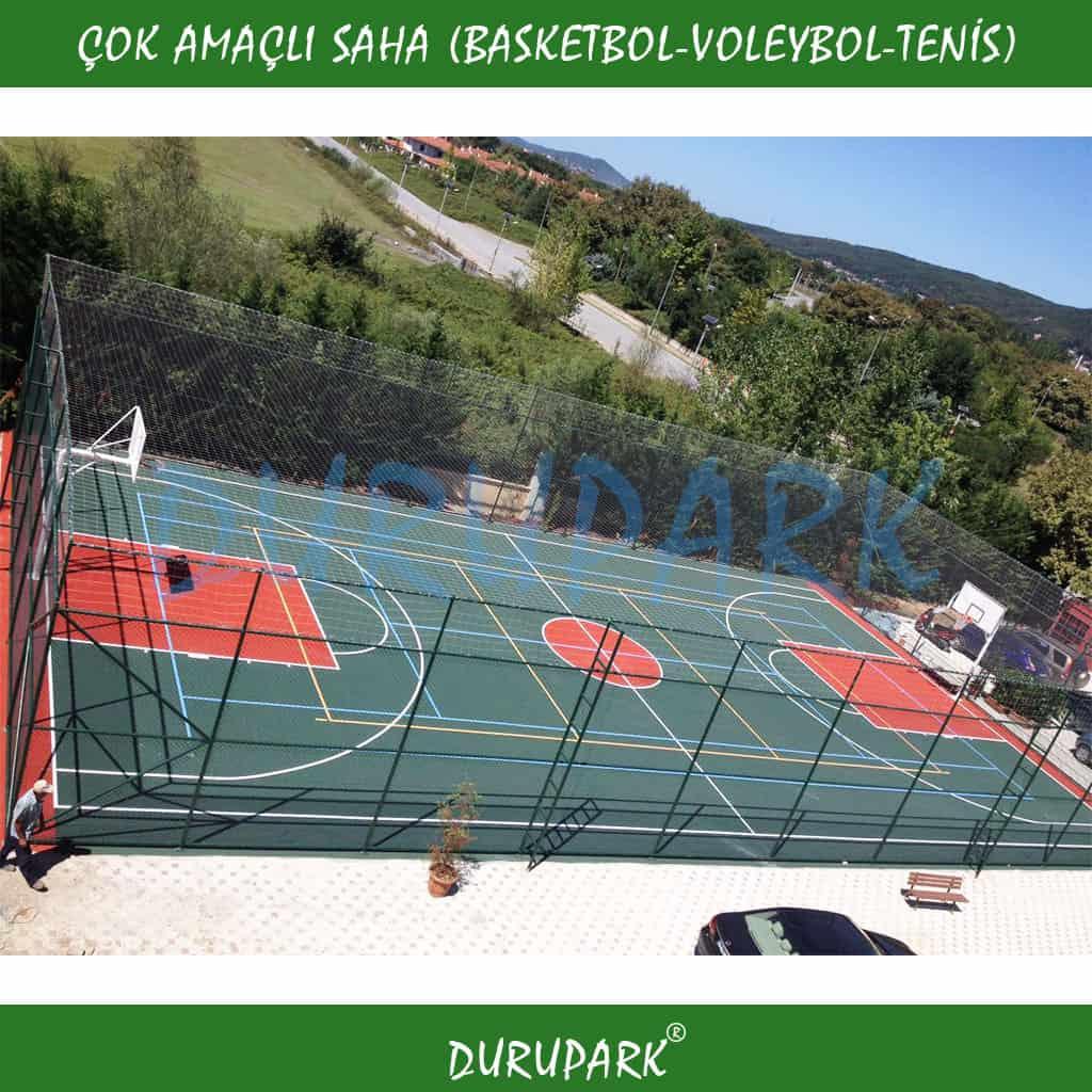 Çok Amaçlı Saha Basketbol & Voleybol & Tenis